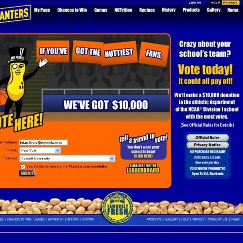 Mr. Peanuts microsite