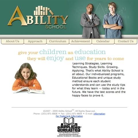 Ability School website