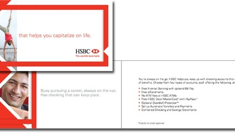 HSBC in-branch consumer personal banking brochure
