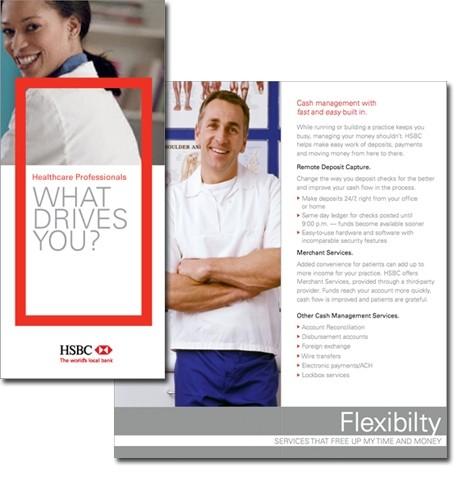 HSBC in-branch B2B banking brochure