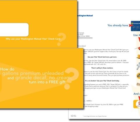 Washington Mutual direct mail package