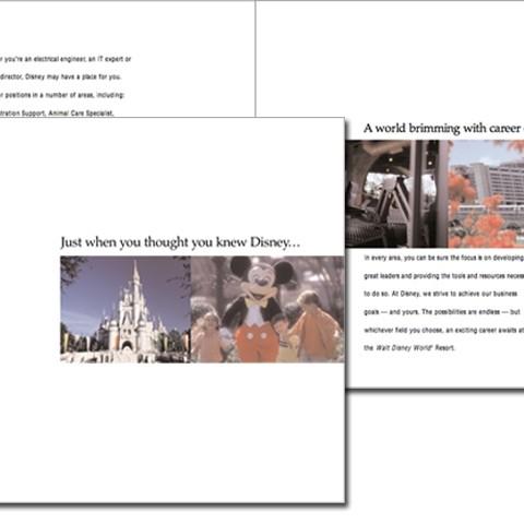 Disney recruitment brochure