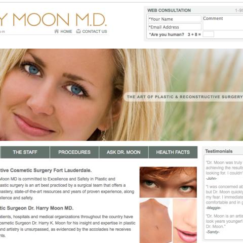 Dr. Moon plastic surgeon website