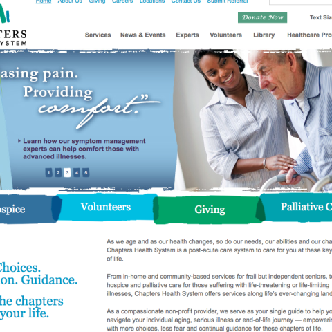Chapters Health website