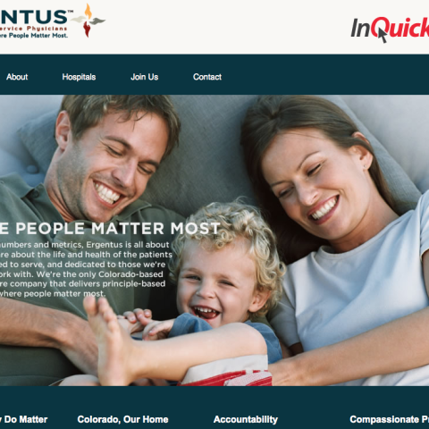 Ergentus Emergency Service Physicians website