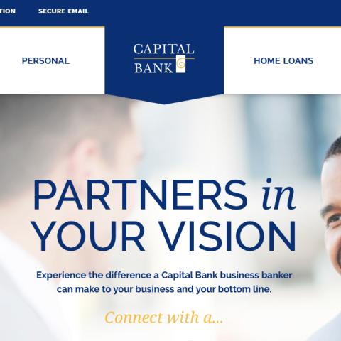 Capital Bank B2B/B2C website