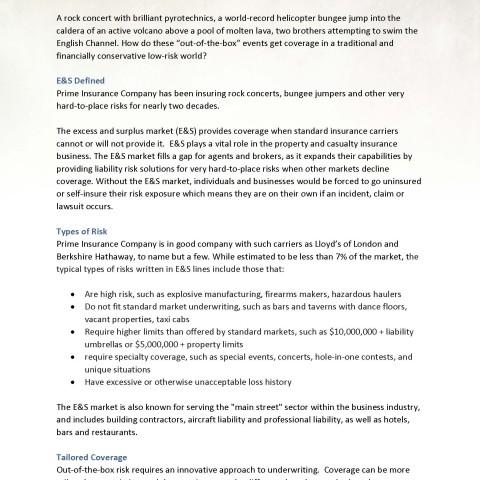 Insurance B2B white paper